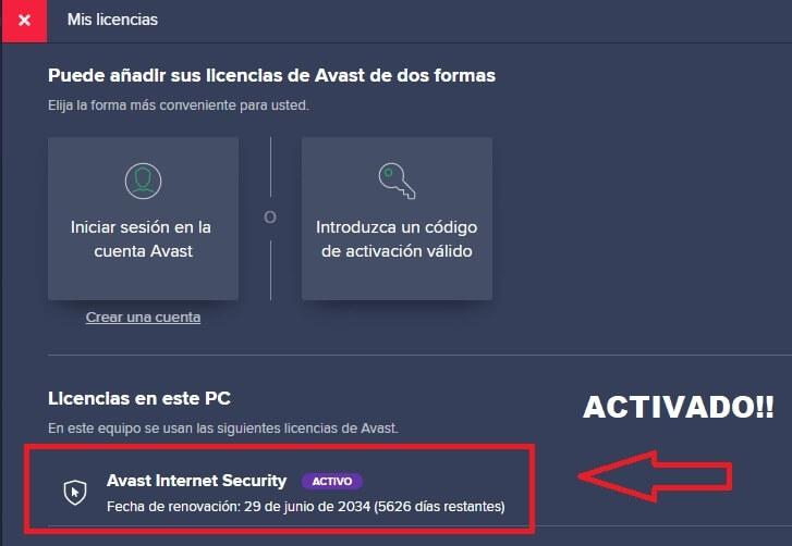 codigos de avast premium antivirus gratis