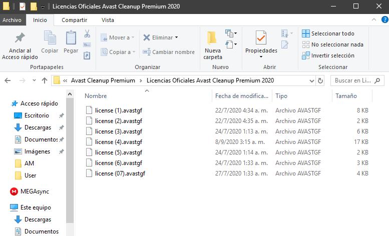 Avast Cleanup Premium archivo de licencia