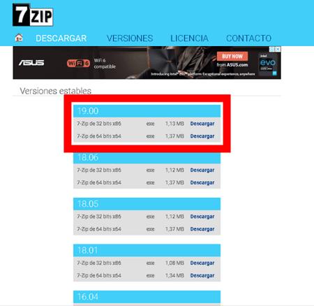 Descargar 7 zip full 2020