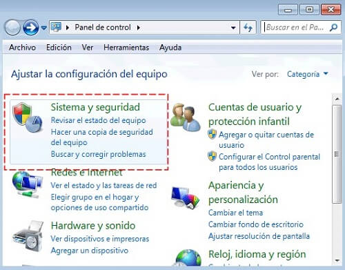 Activar Windows 7 panel de control