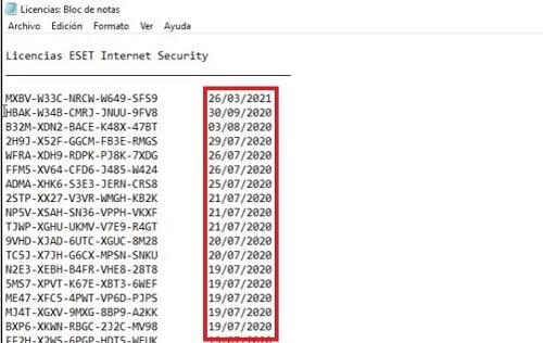 seriales licencias ESET Internet Security