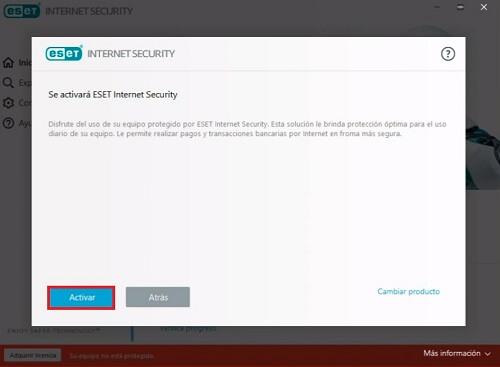 activar Licencias ESET Internet Security