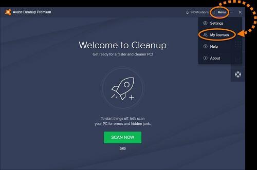 Licencia Avast Cleanup Premium