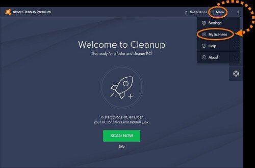 avast cleanup licencia