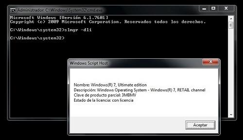 Activar Windows 7 cmd