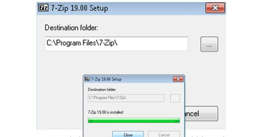 Instalación 7 zip full