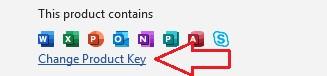 Activar Office 2016 en Windows product key