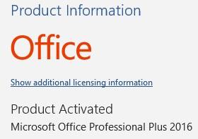 Activar Office 2016 en Windows paso 5