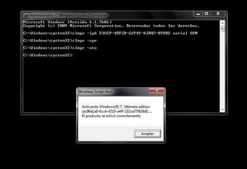 Activar Windows 7 para siempre cmd